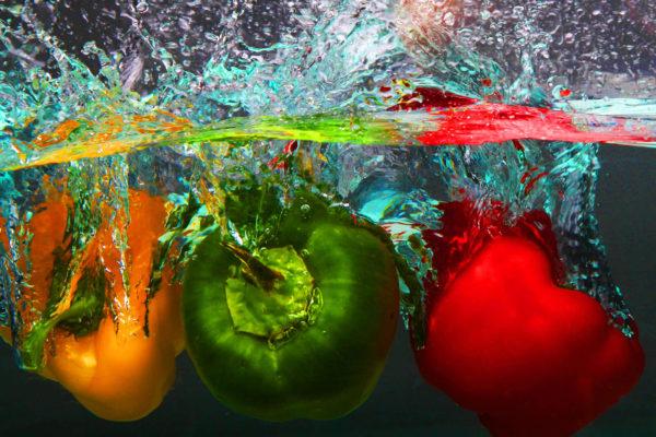 Paprika in Quelle