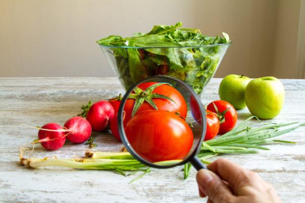 Obst und Gemüse unter der Lupe
